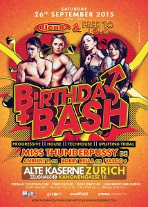 Flexx & Free To Love Birthday Bash @ Alte Kaserne | Zürich | Zürich | Schweiz