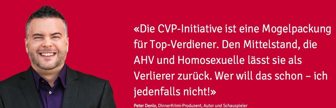 Schweiz: Starke Kampagnen gegen die CVP-Initiative
