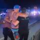 Ein Verletzter wird von Helfern in Sicherheit gebracht. (Bild: NBC News)