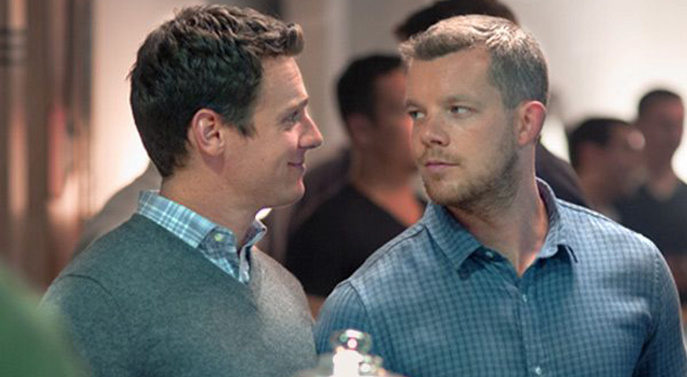 Kevin (rechts) wollte eine offene Beziehung. Patrick nicht. Finden die beiden im Film wieder zueinander? (Bild: HBO)