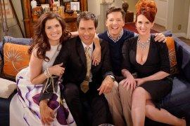 Sie kommen wieder zurück: Grace, Will, Jack und Karen. (Bild: CBS)