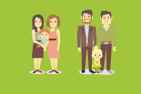 familien bilder comic
