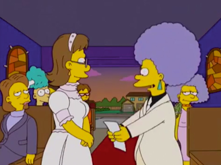 Regenbogenhochzeiten-Simpsons